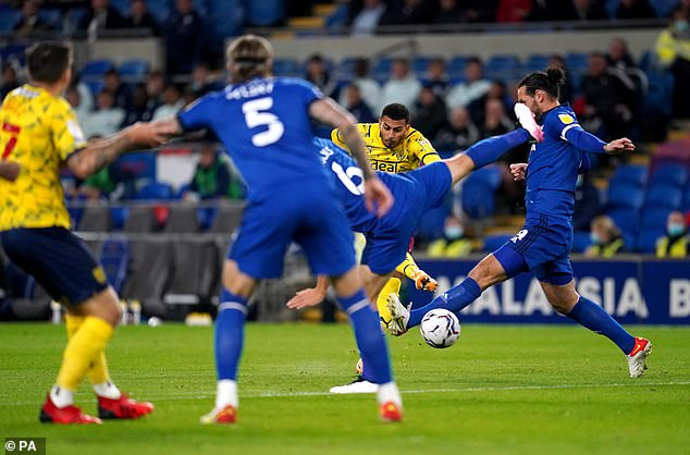 Karlan Grant opened the scoring for the unbeaten Baggies at Cardiff City Stadium