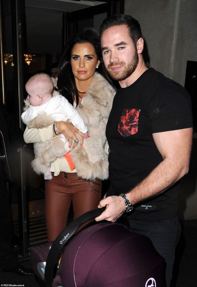 Kieran Hayler and Katie share a son and a daughter, Jett, born in 2013, and Bunny (pictured), born a year later