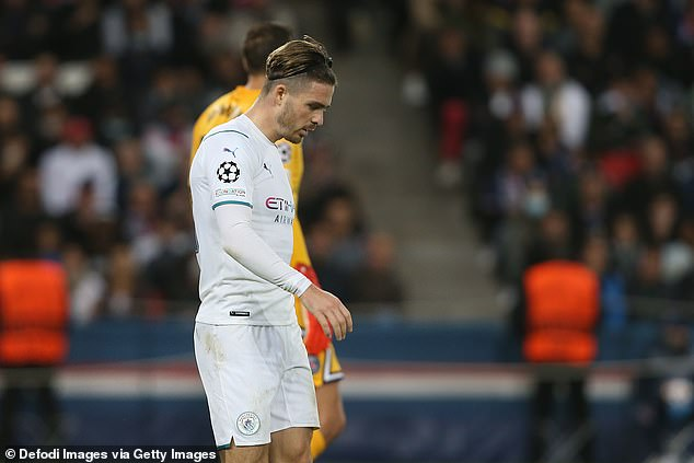 Jack Grealish was often stopped in his tracks as PSG doubled up on the £100m winger