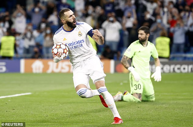 Real Madrid restored parity after Karim Benzema equalised from the penalty spot