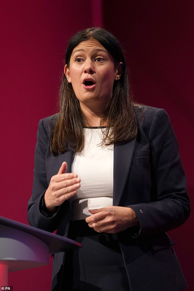 Shadow Foreign Secretary Lisa Nandy (pictured), who unsuccessfully ran against Sir Keir for leadership, says: 'I am desperate to get a woman to lead the Labor Party'