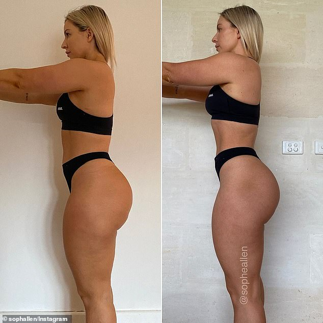 The Sydney fitness coach said it wasn't only her body that changed but she also experienced 'immense mindset growth'