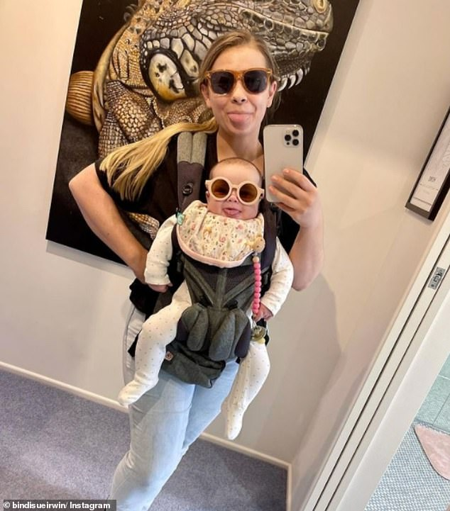 Twinning! Grace Warrior, the youngest member of the Irwin family, looked cute as a button alongside her mother, Bindi, in a photo shared to Instagram on Wednesday