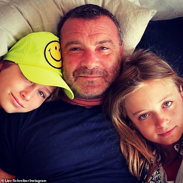 Friendly exes! Liev Schreiber posed up with his sons as he paid tribute to ex Naomi Watts on her birthday on Tuesday