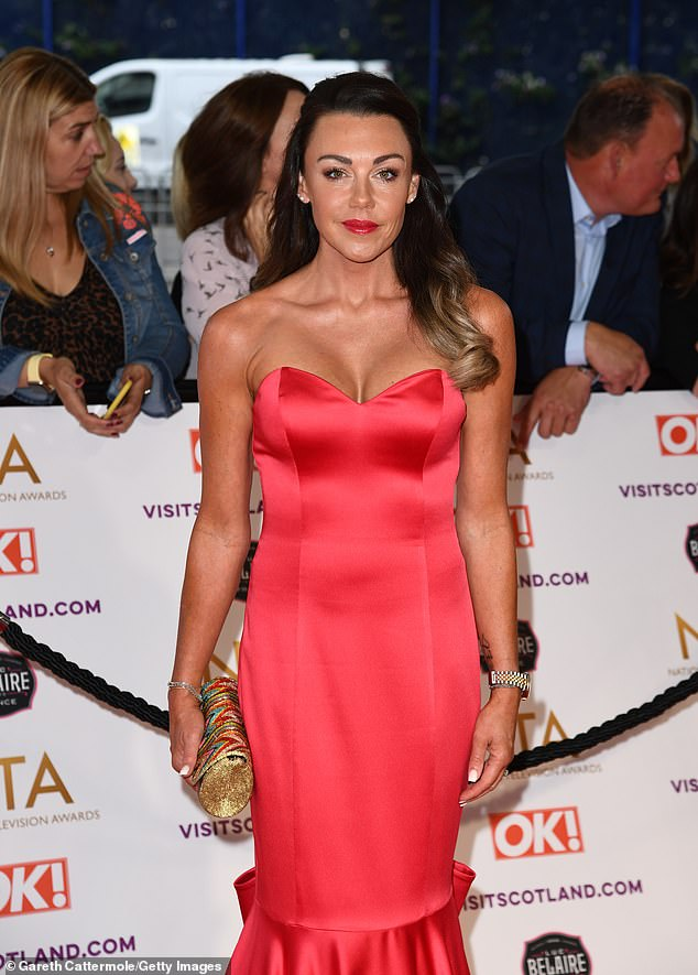 Worried:Michelle Heaton is said to have begged best pal Katie Price to seek help for her demons following her alleged 'drink-and-drug-drive crash' in the early hours of Tuesday morning