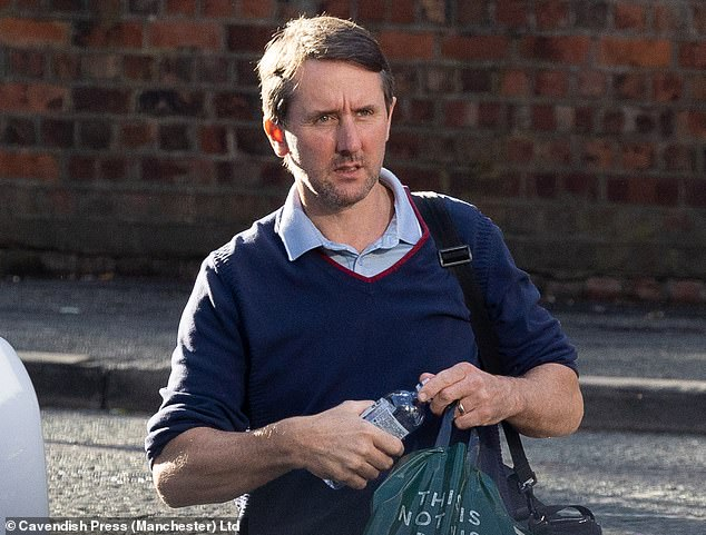 Roy Staunton (pictured above), 45, had taken charge of the project himself after he and his wife won planning permission to place the Gothic-themed property on a plot next door to their 1950s detached home in Hale, near Altrincham, Greater Manchester