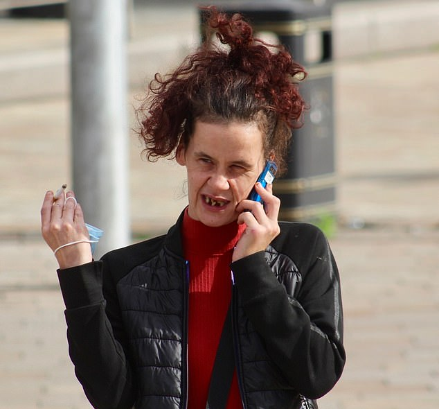 Lauren Blaney (pictured), trashed her ex-boyfriend's home with her current partner causing more than £2,000 worth of damage in the process.