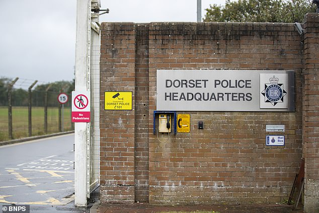 PC Sean Ford, 49, posed as a 'knight in shining armour' after visiting the woman's home to interview her and take a statement following the allegations of abuse, the hearing at Dorset Police headquarters heard