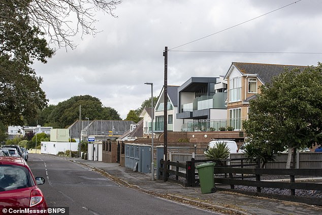 The homes on Whitecliff Road in Poole, Dorset. Over the last 10 years there has been a spate of similar attacks on trees in the exclusive suburbs that surround Poole Harbour