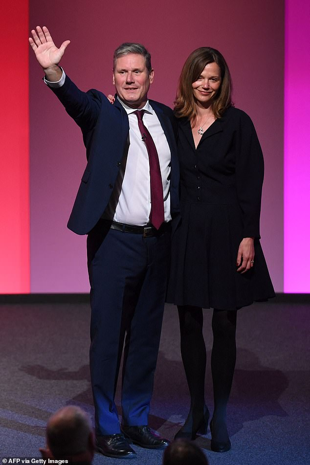 Keir Starmer's wife Victoria hit the headlines today when her husband gave his first personal conference speech since the pandemic
