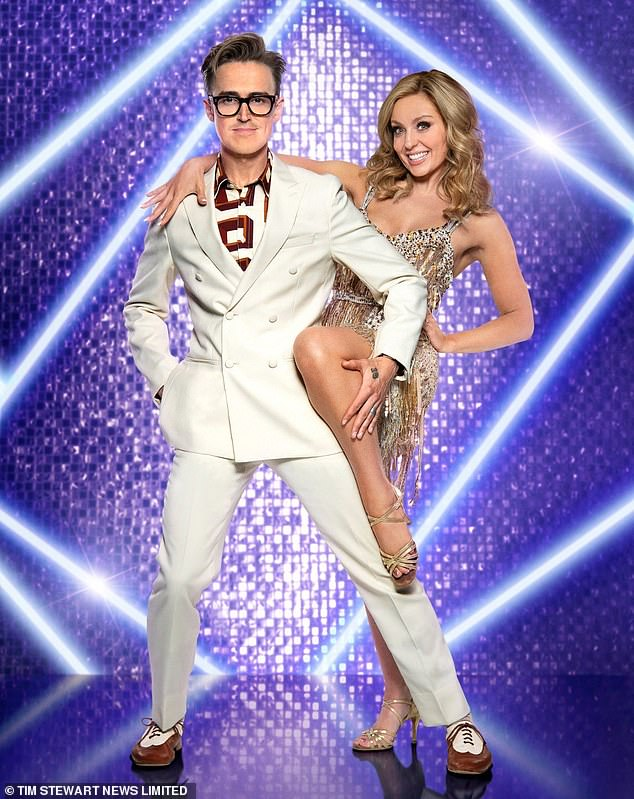Jenny Murray says later events show that she was lucky to have failed the fitness test for Strictly.  Pictured: Tom Fletcher with his dance partner Amy Dowden
