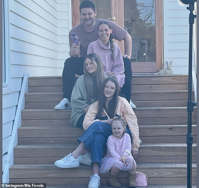 Part of the family:Mia's stepfather, AFL great Brendan Fevola, 40, previously praised Jamarra during a radio interview