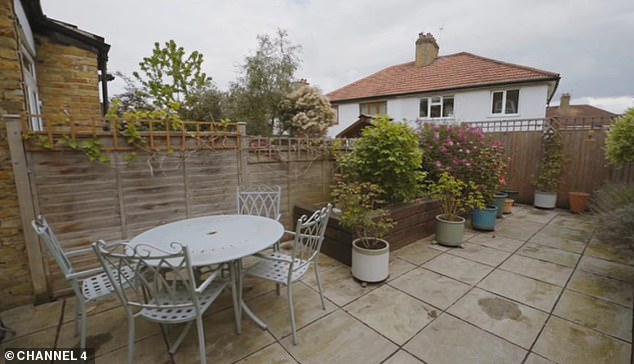 Jess longed for a garden that caught the sun.  Speaking before going inside, Jess said: 'I want to see the garden, maybe put some decking in the back so you can get the sun for an extra ten minutes'