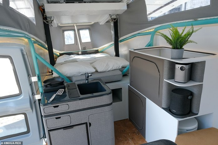 The Stella Vita includes a double bed, dining table, seating area, and sink next to the stove – although it's a bit squeezy, meaning passengers can still smell the cooking fumes from dinner as they sleep. flow for