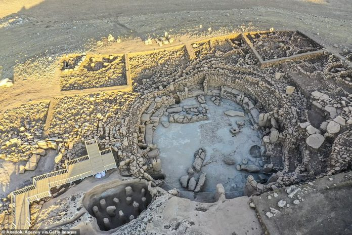 New images taken by drones flying over the site reveal some sculptures found during excavations at Karahantepe