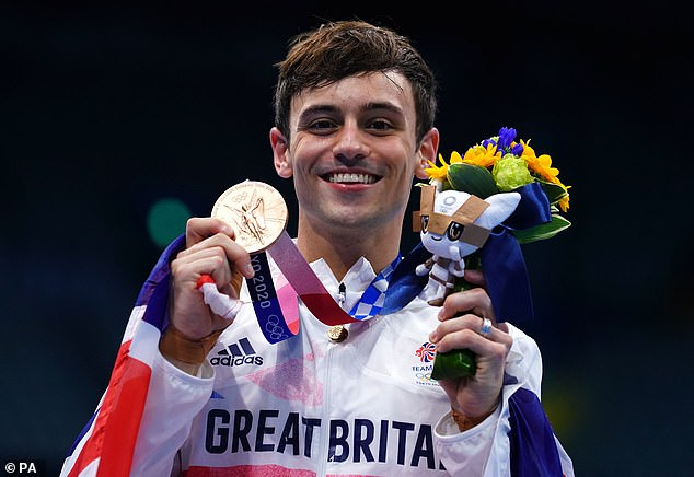 Ill: The 27-year-old Olympic diver, who won gold in the men's 10m diving event with Matty Lee in Tokyo, battled the virus in January this year but hid his ordeal from his sporting rivals