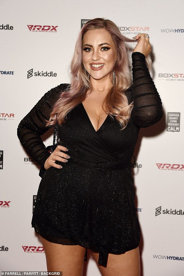 Amazing: Married At First Sight star Megan Wolfe, 26, also looked sensational at the event in a dazzling black playsuit.