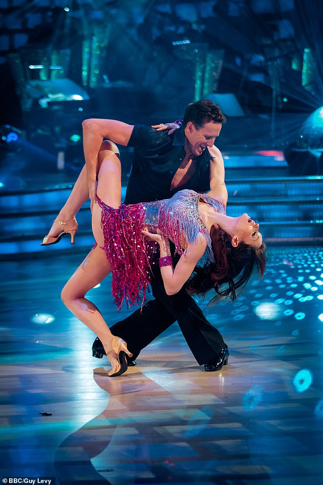 Challenges: Sophie revealed how husband Richard ended up in counselling. She also revealed the physical closeness on the show was something she struggled with throughout. Pictured: Sophie on the show with dance partner Brendan Cole in 2013