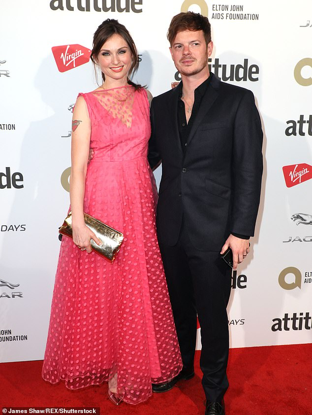 Tested: In an abridged extract from Spinning Plates, by Sophie Ellis-Bextor, published by The Mail On Sunday this month, the singer, 42, recalled how her time on Strictly Come Dancing 'took such a toll' on her marriage with Richard Jones. Pictured together in 2017