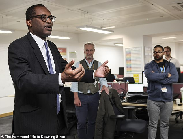 Business Secretary Kwasi Kwarteng (pictured) has warned that 'higher tax is basically a tax on economic activity', adding: 'I don't believe we can tax our way to wealth'