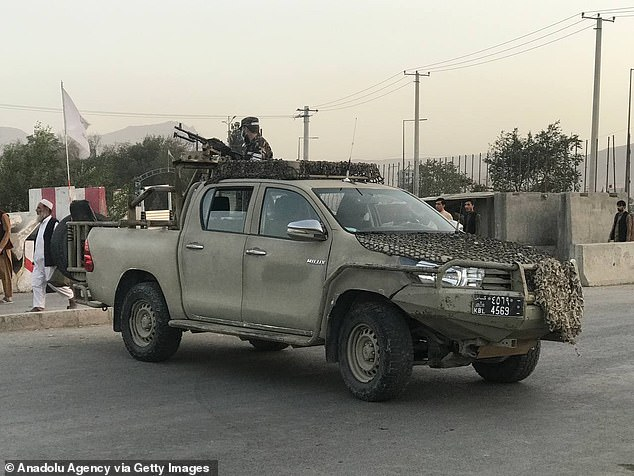 The area around the mosque was cordoned off by the Taliban who maintained a heavy security presence following the attack