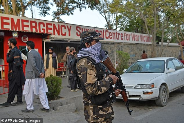 Taliban fighters were not harmed in the attack according to spokesman Bilal Karimi, who stated the casualties were civilians standing outside the mosque. Taliban guards are now stationed outside the mosque and emergency rooms