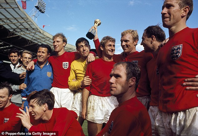 The striker (pictured center - in yellow between Gordon Banks - in yellow - and Sir Bobby Moore) won the 1966 World Cup with England and is remembered as one of the game's all-time greats.