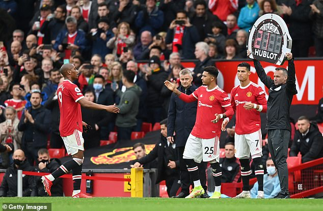 Sancho was brought in for Anthony Martial after 57 minutes but United did not win