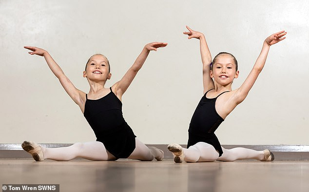 Speaking of their success, Mrs Brown, Principal, said: 'It is a significant achievement to have two sisters selected in the Associates Program of the Royal Ballet.  picture, evelyn and isla