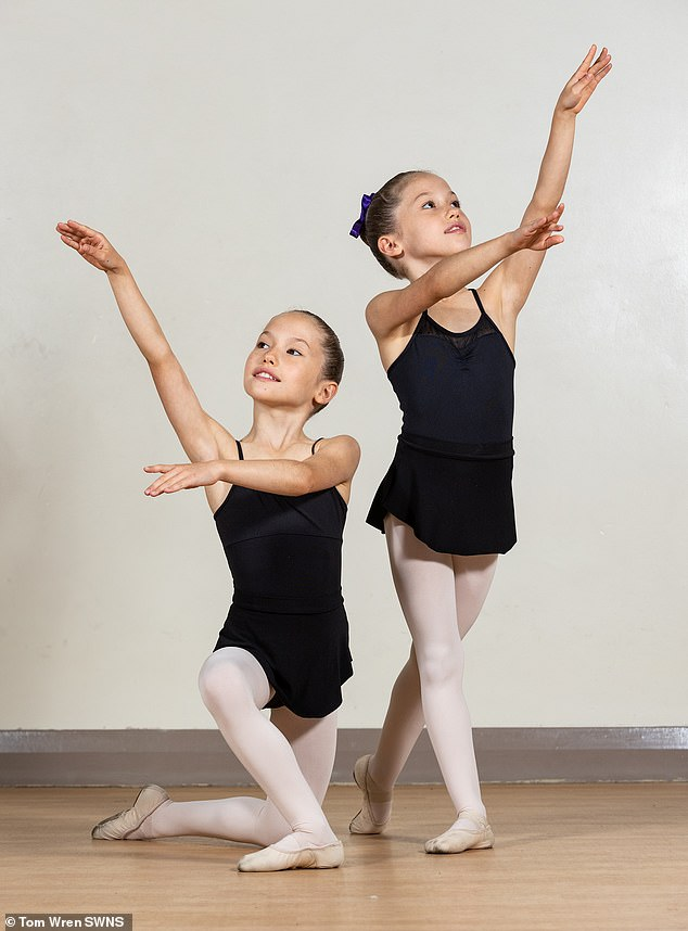 Classes will cover everything from body conditioning, barre work and center work to preparation for pirouettes, porte de bras and jumps.  picture, evelyn and isla