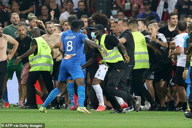 Payet threw the bottle at the Nice ultras, which led to the hardcore fans coming onto the field