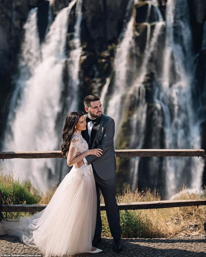 With a picturesque ceremony on the edge of the Zambezi, close to Victoria Falls in Zambia, self-made millionaire bride Maria ferried all food, chefs, pop stars and more from her homeland to Africa by a fleet of private jets for a five-day wedding ceremony. Blown away most of the guests.  at the Royal Livingstone Hotel