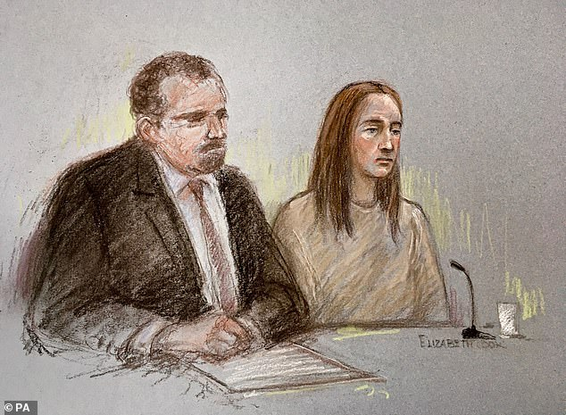 Letby seen appearing in court via a video link alongside hersolicitor, Richard Thomas during an earlier court appearance