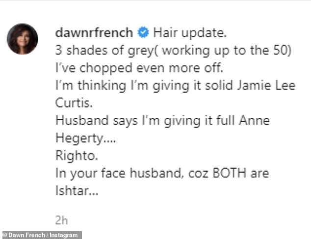 TRANSFORMED: Sharing some photos from last week of his short hair, Don wrote: 'Hair update.  3 shades of gray (working up to 50)