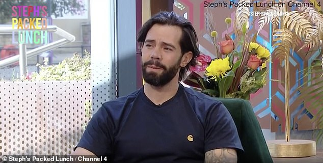 Candid: On Monday, 36-year-old Charlie King revealed he struggles with body dysmorphia in an emotional interview at Steph's Packed Lunch on Channel 4.