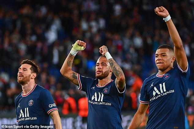Lionel Messi, Neymar and Kylian Mbappe's haven't fully gelled up front for PSG so far