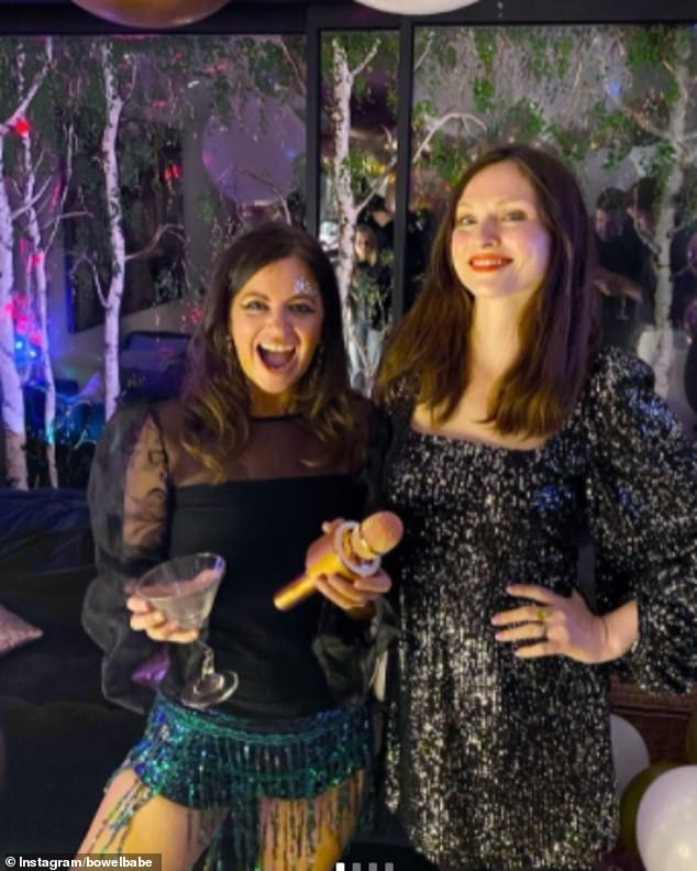BBC podcast presenter Deborah James, who has stage four bowel cancer, has shared photos from her wild 40th birthday party, fearing it was a milestone she will never see (pictured left, popstar Sophie Ellis-Bexter who performed at the event)