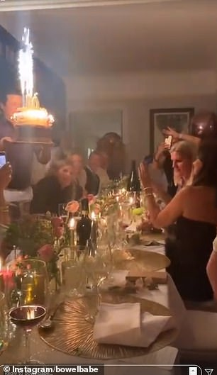 Snaps shared on Deborah's social media showed her home being decorated with a vast array of balloons, with her friends and family sitting down for a candlelit dinner before the party.