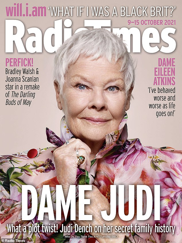 Revelation: Dame Judi Dench, 86, has revealed her visit on the BBC program Who Do You Think You Are?  Closer to William Shakespeare has left his spirit