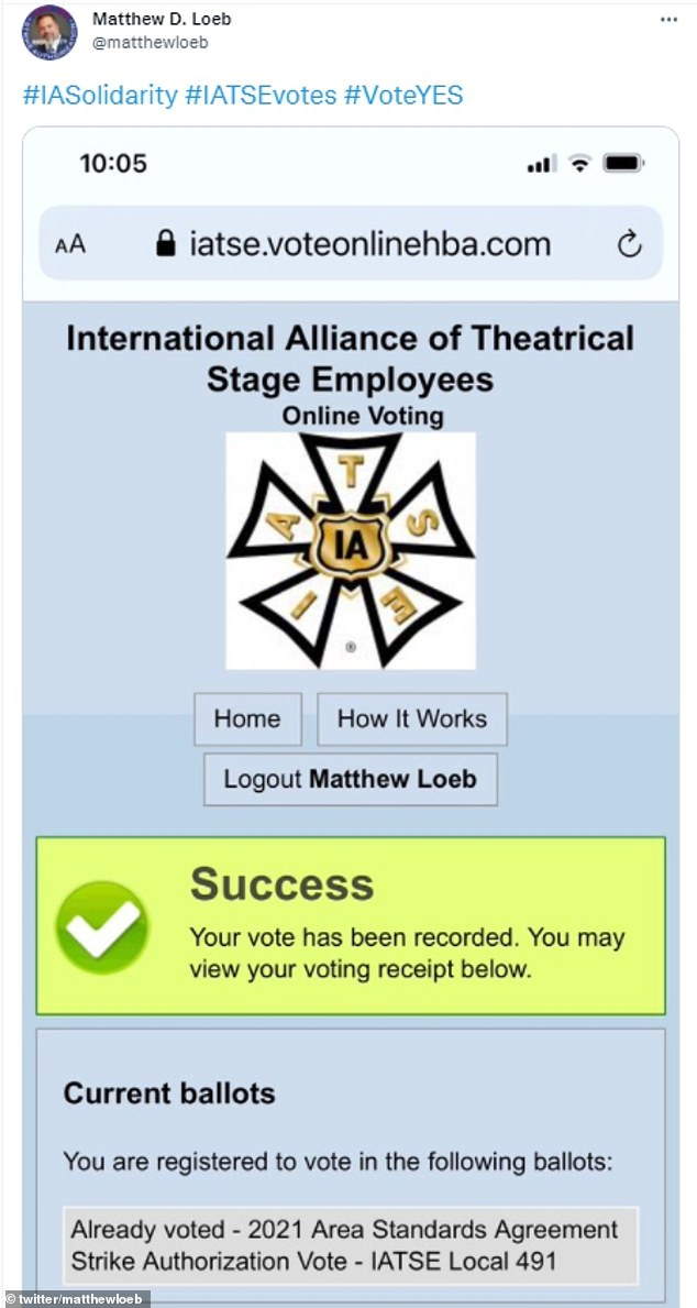 Last week, 98% of eligible IATSE members across the country voted in favor of the strike if needed.