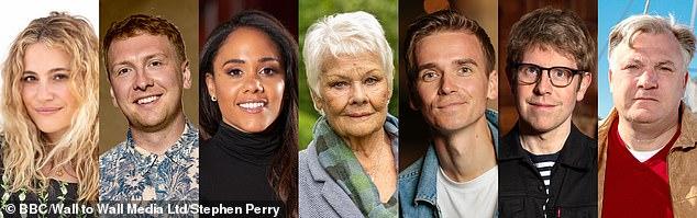 Star-studded: Also starring in this year's series is Dame Judi Dench, 86, Pixie Lott, 30, Alex Jones, 36, Ed Balls, 45, Joe Sugg, 30, and Joe Lycett, 33