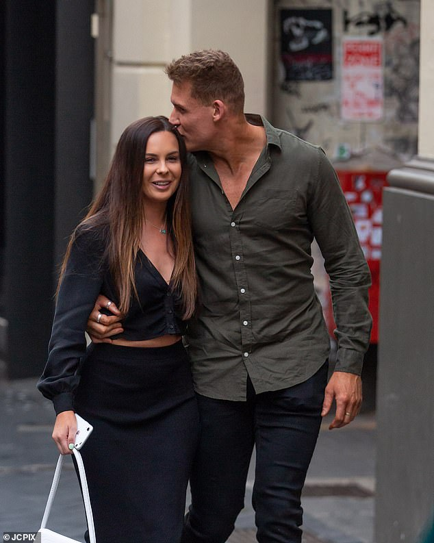 It's love! Married At First Sight star Seb Guilhaus couldn't keep his hands of his new girlfriend Ania as they enjoyed a romantic date night in Adelaide over the weekend