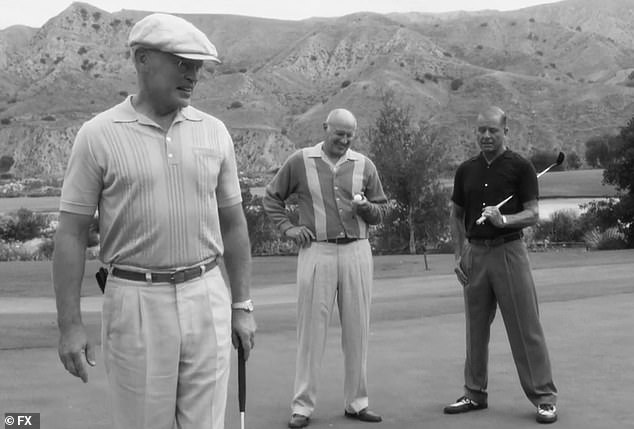 Last Wednesday, Maxwell (R) portrayed President Eisenhower's golfing buddy in FX's American Horror Story: Double Feature, and he's happy to join Ryan Murphy's players