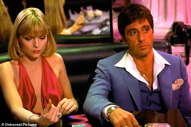 Queen of the late 80s and early 90s! The 63-year-old actress experienced quite the winning streak after starring as Miami drug lord Tony Montana's (R, Al Pacino) cocaine-addicted trophy wife Elvira Hancock in Brian De Palma's 1983 film Scarface