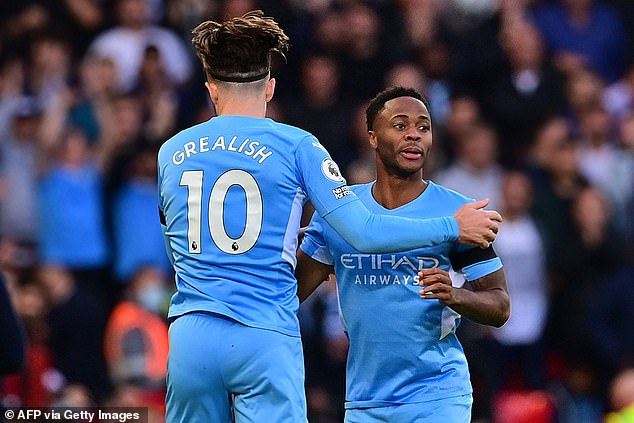 Sterling remains behind summer signing Jack Grealish in the pecking order at Manchester City