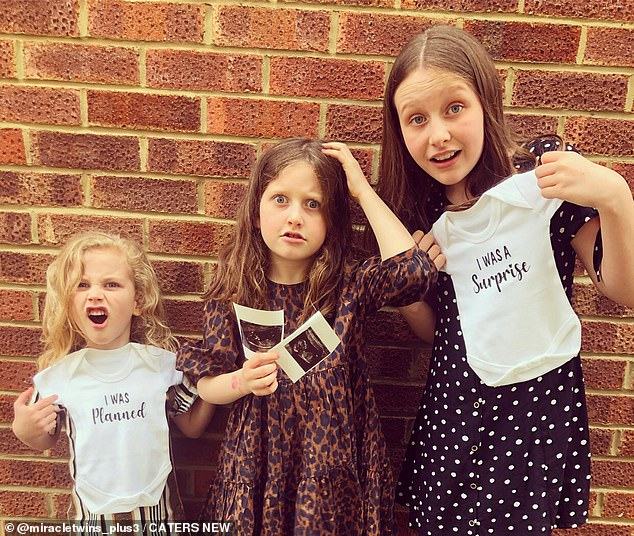 LR Albert, Florence and Phoebe are excited by the news of the twins.  Meanwhile Kelly was eating about 200 grams of protein a day and drinking about five liters of water to help her growth