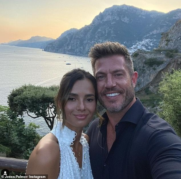 Newlyweds: The 42-year-old presenter and 35-year-old Emily tied the knot in an 'intimate ceremony' at a friend's home in Connecticut, nearly a year after their engagement (pictured over the summer)