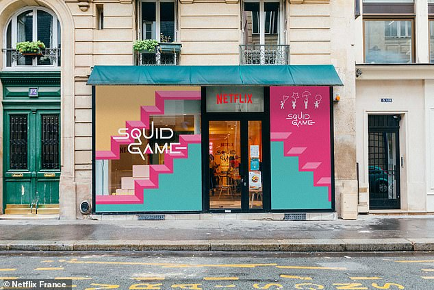 The pop-up Squid Game store was only open in Paris for two days on October 2 and 3, giving fans an interactive experience at playing the games featured in the show - without the risk of death