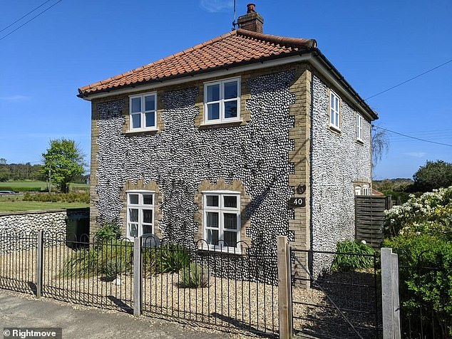This three bedroom home in Upper Sheringham, Norfolk, can be rented for £1,100 per month through agents at Brown & Co.