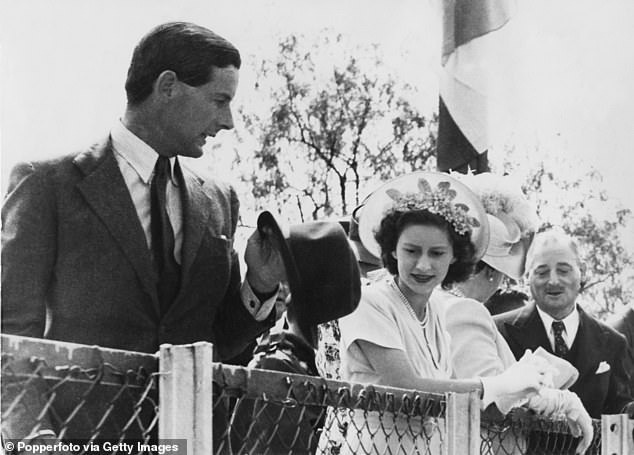 25 years before Michelle of Kent was allowed to marry Marie-Christine, Princess Margaret's desire to marry an RAF officer and King-like Peter Townsend caused a constitutional crisis (a royal tour to South Africa in 1947 painted during)